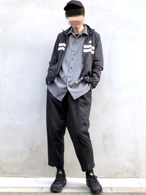 Mr.SZKさんの「TRストレッチオープンカラーシャツ(EMMA CLOTHES)」を使ったコーディネート
