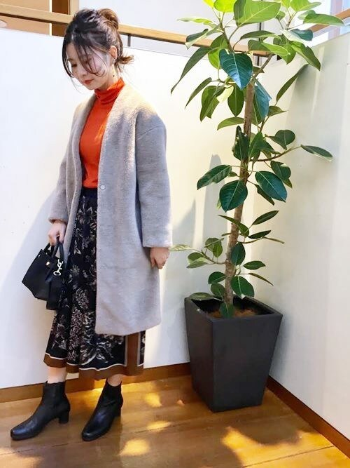 SHIPS 大宮店星さんのスカート「PrimaryNavyLabel:スカーフスカート(SHIPS|シップス)」を使ったコーディネート