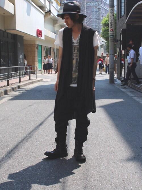 ROYAL FLASH 梅田RyotaさんのTシャツ/カットソー「SHARE SPIRIT/シェアースピリット/デビルファミリーSS TEE(SHARE SPIRIT シェアースピリット)」を使ったコーディネート