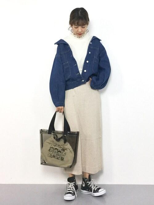 ZOZOTOWNyukiさんのTシャツ/カットソー「レース付裏起毛プルオーバー(MAJESTIC LEGON|マジェスティックレゴン)」を使ったコーディネート