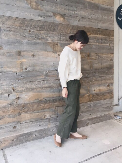 yukoさんのソックス/靴下「靴下屋/ ラッセルリブショートソックス 22〜25cm(靴下屋 クツシタヤ)」を使ったコーディネート