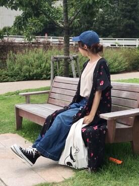 maho...さんの「ヴィンテージフラワーワンピース【niko and ...】(niko and...|ニコアンド)」を使ったコーディネート