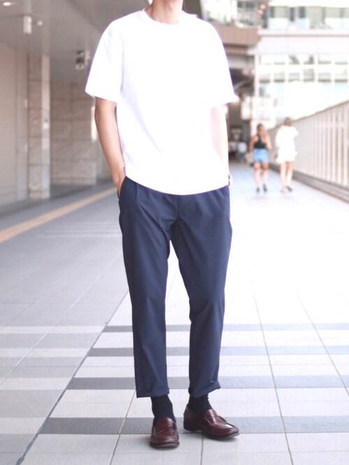 """masumiさんの「""""TORAY RIRANCHA"""" スリムテーパードパンツ#(JOURNAL STANDARD relume)」を使ったコーディネート"""