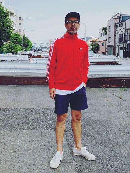 YosaKuginoさんの「トラックトップ [FIREBIRD TRACK TOP] アディダスオリジナルス(adidas)」を使ったコーディネート
