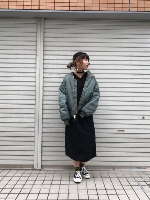 X-girl 大阪Kanna  Hayashiさんの「(|)」を使ったコーディネート