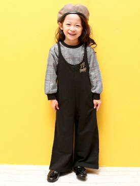 8a9abf2f882320 ANAP Online Official ANAP KIDS Officialさんの「ミニ裏毛サロペット(ANAP