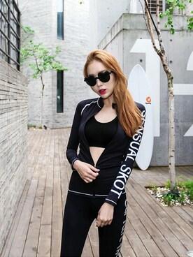 0dd07db6c8f71 ラッシュガードを使った「韓国ファッション」のレディースコーディネート一覧 - WEAR