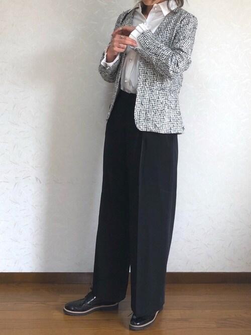 入学式 ママコーデ