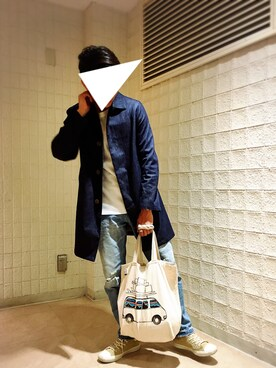 そらたさんの「Traditional Weatherwea×BEAMS / 別注 SELBY DENIM(Traditional Weatherwear)」を使ったコーディネート