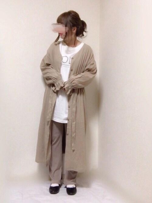 7b03aaf8e19ce はる☻さんのワンピース「麻レーヨン羽織ワンピース(w closet|ダブル