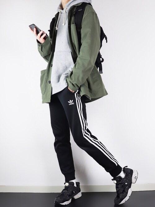 ぴたんさんのパンツ「トラックパンツ [SST TRACK PANTS] アディダスオリジナルス(adidas|アディダス)」を使ったコーディネート