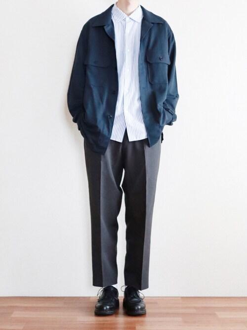 kitsuneさんの「ミリタリージャージーシャツ(長袖)(ユニクロ)」を使ったコーディネート