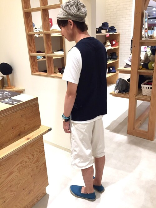 14+ イオンSENRITO専門館店 スタッフさんのニットキャップ/ビーニー「コットンニット帽(14+|イチヨンプラス)」を使ったコーディネート