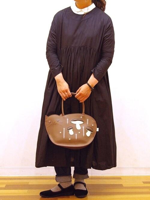 ROOTOTE GALLERY 代官山店ROOTOTE  STAFFさんのトートバッグ「ルートート/EU.デリモンシャ-B(ROOTOTE ルートート)」を使ったコーディネート