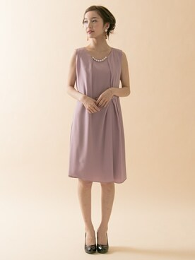 00a461a7765e1 URBAN RESEARCH hanamiさんの「COUTURE MAISON ネックレスツキアシメタックドレープワンピース(