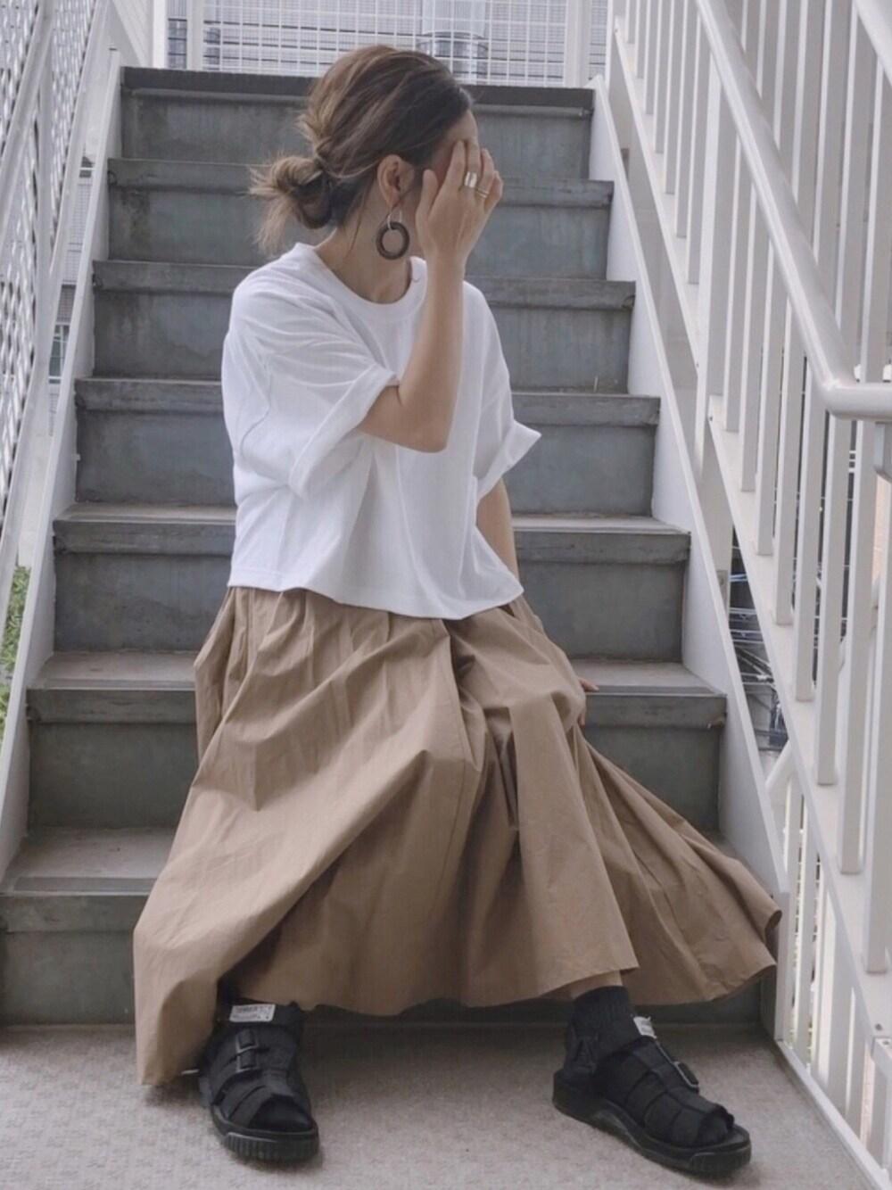 マタニティ夏コーデ 30代 通販 CHOCOA スカート 可愛い