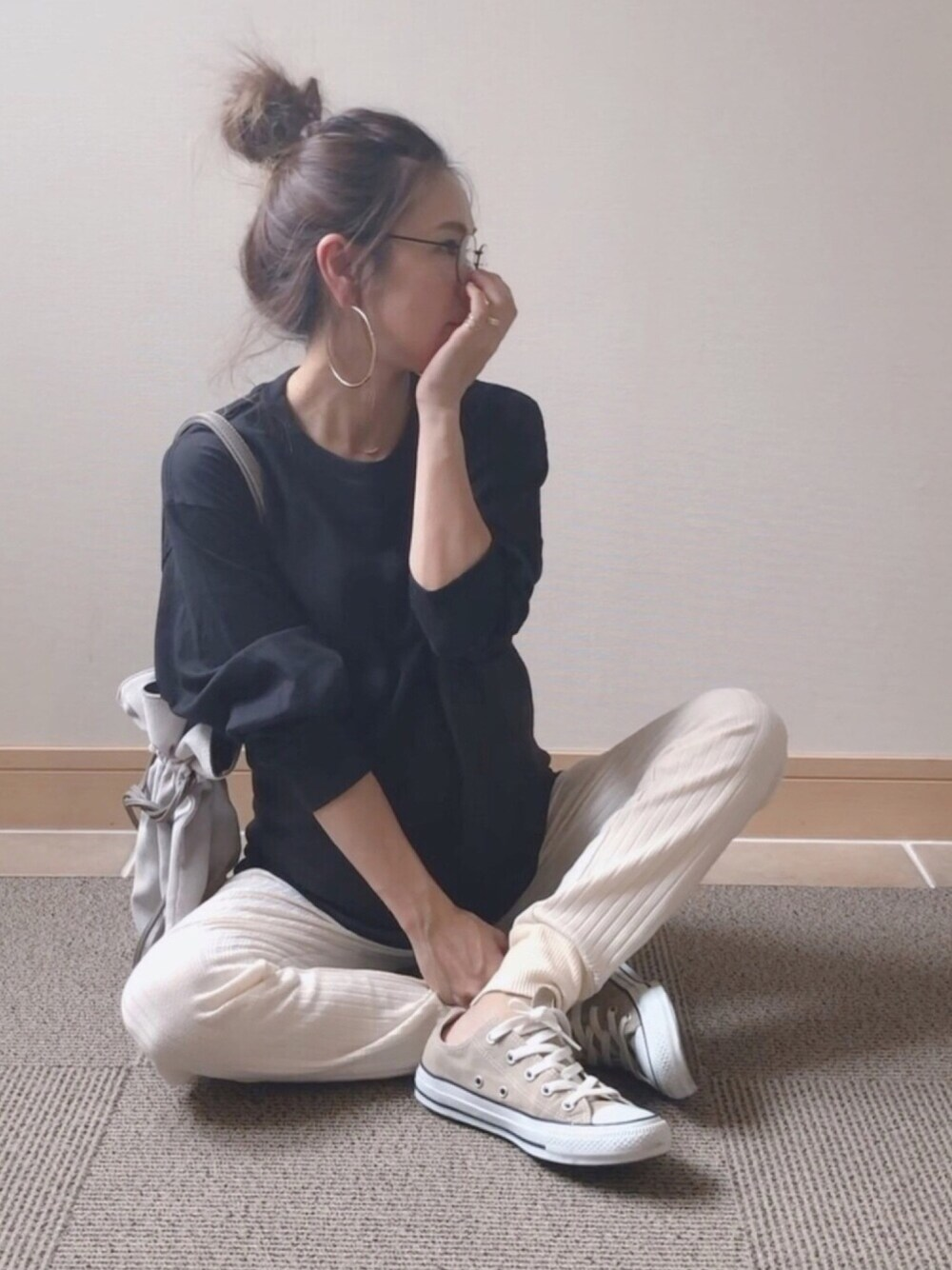 マタニティコーデ 30代 通販 Sweet mommy パンツ 秋コーデ