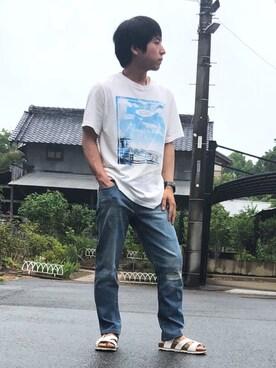 3dcc20a11b50 ゆーきさんの「ビーチフォトTシャツ(URBAN RESEARCH|アーバンリサーチ)