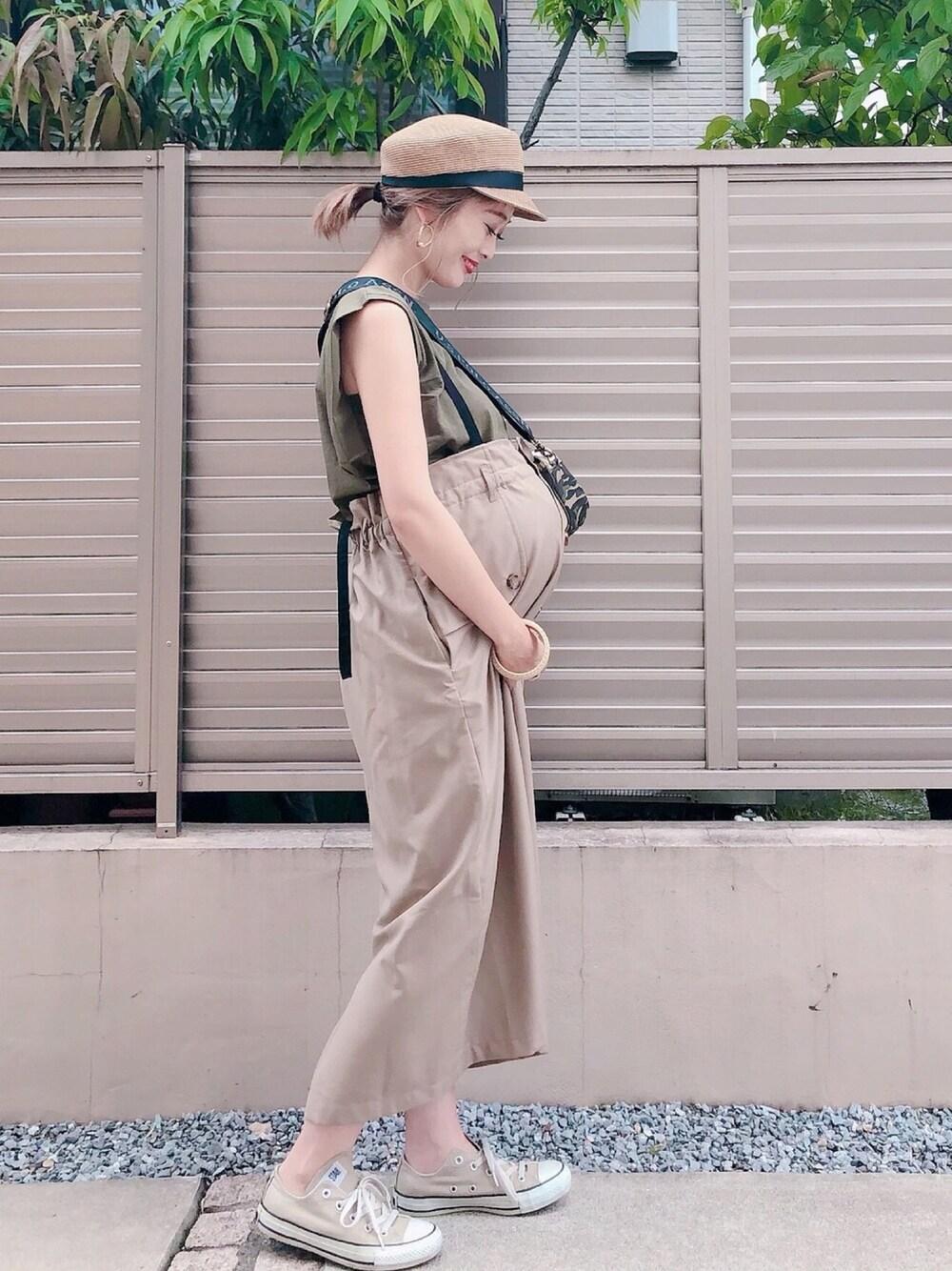 マタニティコーデ 30代妊婦 通販 Sweet mommy スカート 夏服