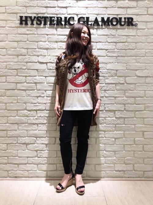 タカシマヤ ゲートタワーモール店SUZUKIさんのシャツ/ブラウス「ワッペン付 長袖ロングシャツ(HYSTERIC GLAMOUR ヒステリックグラマー)」を使ったコーディネート
