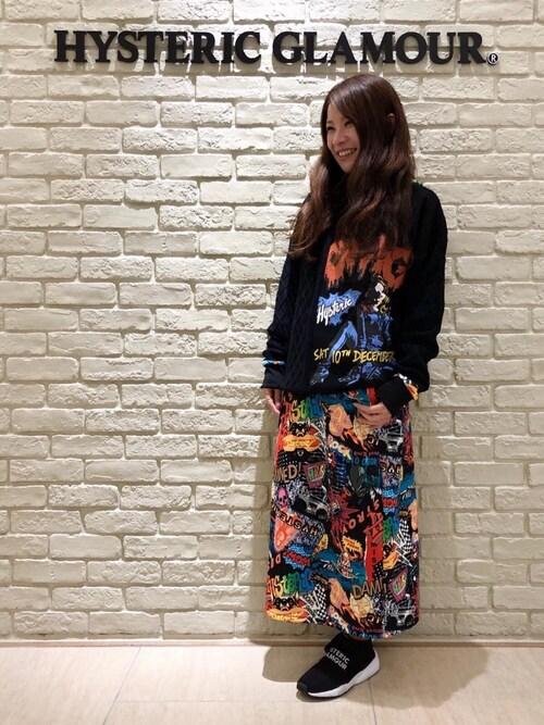 タカシマヤ ゲートタワーモール店SUZUKIさんのソックス/靴下「FIRE PATTERN ソックス(HYSTERIC GLAMOUR|ヒステリックグラマー)」を使ったコーディネート