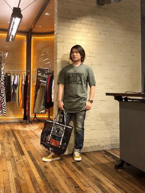 HYSTERIC GLAMOURルクア大阪店吉川修平さんのスニーカー「CLASSIC ローカットスニーカー(HYSTERIC GLAMOUR|ヒステリックグラマー)」を使ったコーディネート