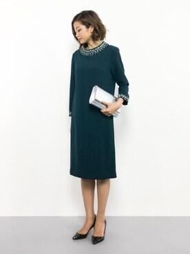 e3b165de2e0c8 mihiroさんの「 結婚式・お呼ばれ対応ドレス ビジュー クラシカルワンピース・