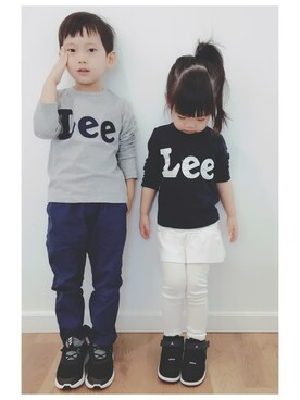 "Summer&Winter is wearing Lee ""【LEE】ロゴロンT"""