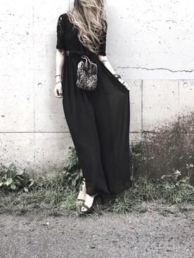 dc60e79360b97 Lilyさんの「レース&チュールAラインロングワンピース・ドレス(Lace Ladies