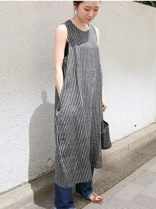 Ishishi Iena渋谷ヒカリエshinqs Ienaのワンピースを使ったコーディネート Wear
