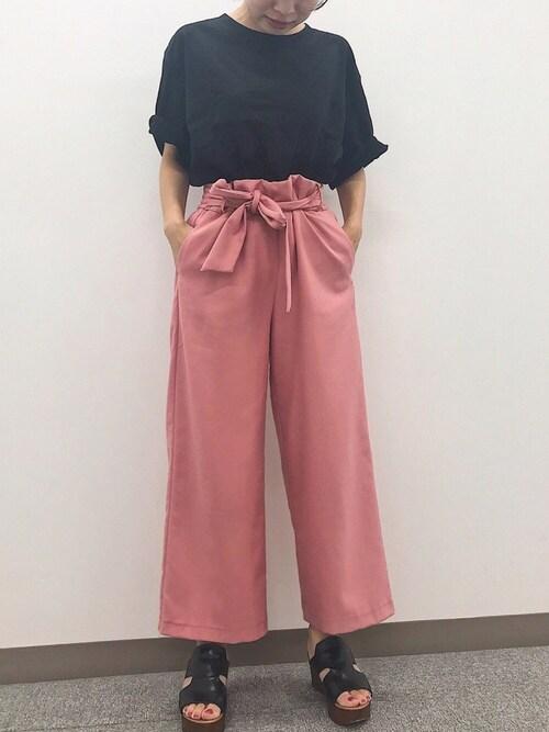 HNさんのTシャツ/カットソー「365日Tシャツ(MICHYEORA ミチョラ)」を使ったコーディネート