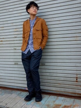 one pair|ONEPAIRさんの「nonnative NN-S3101 ROAMER SHIRT C/S TWILL OVERDYED(nonnative)」を使ったコーディネート