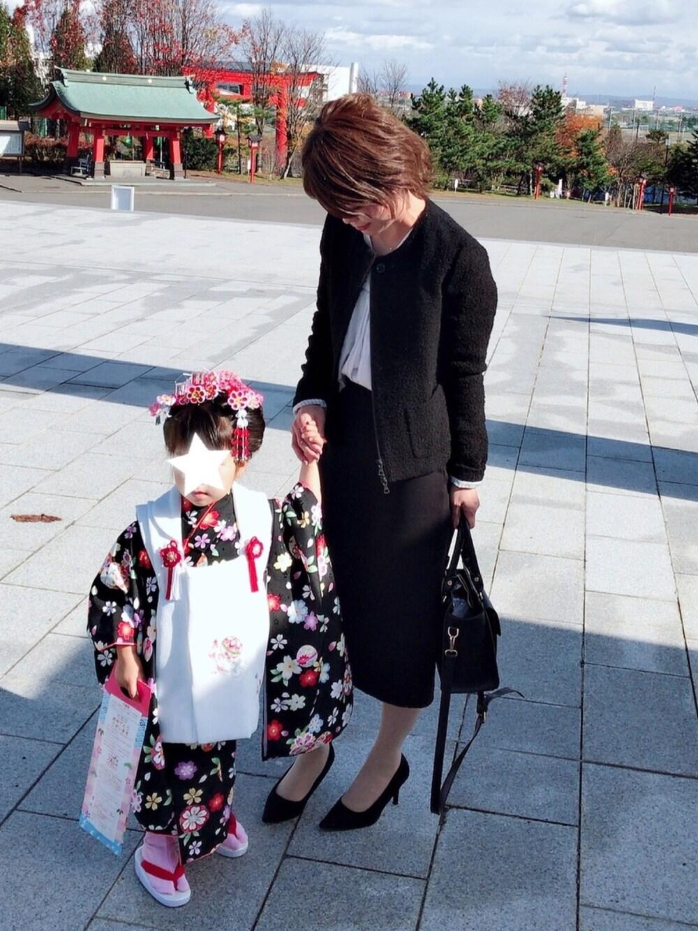 黒のスーツスカート キレイめ オシャレ 画像