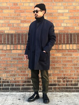 "mag is wearing A.P.C. ""MAC MASON 14A"""