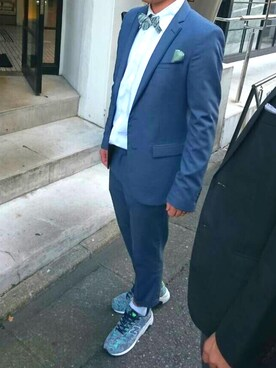 796708a9eb265 ZARA(ザラ)のスーツジャケットを使った「結婚式二次会スタイル」の ...