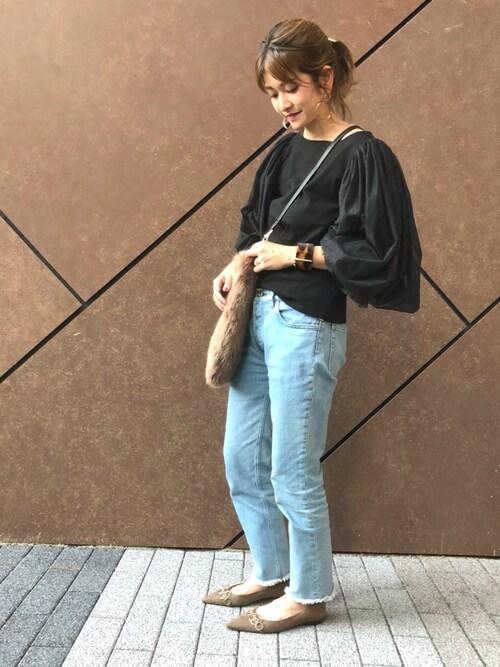 12a98fdb325fc0 RANDA 本社nishiさんのTシャツ/カットソーを使ったコーディネート - ZOZOTOWN