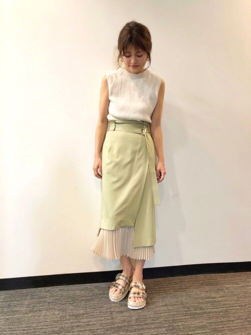 f27ddd6bf90072 RANDA 本社nishiさんのスカートを使ったコーディネート - ZOZOTOWN