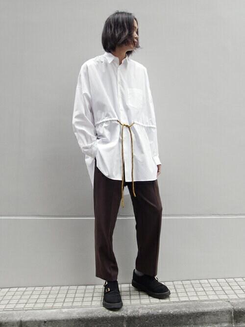 shelterogiwaraさんの「Poncho Shirt(soe)」を使ったコーディネート