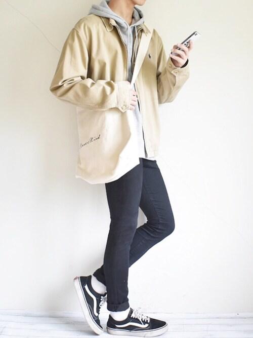 たいがさんのショルダーバッグ「★WEARISTA多数着用★ Rename プリントハンプ ロゴトート ショルダー(DEVICE|ディバイス)」を使ったコーディネート