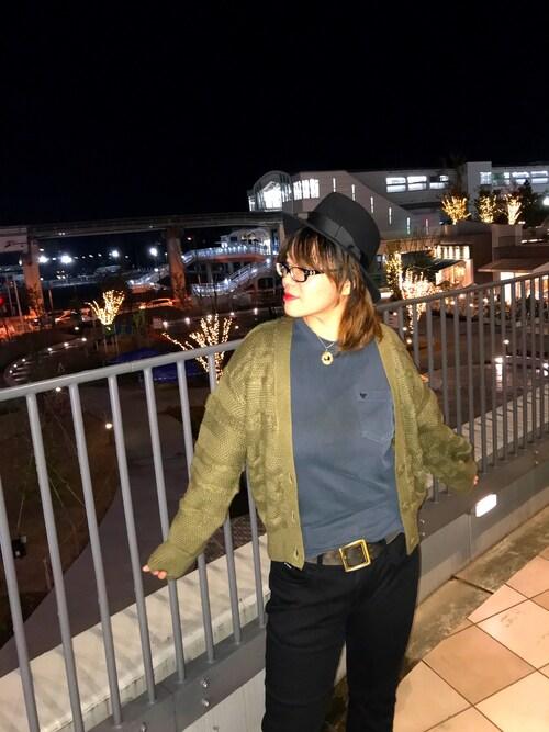 AVIREX立川立飛misiaさんのハット「AVIREX/アヴィレックス/WOMEN'S FELT HAT/ウイメンズ フェルト ハット(AVIREX アヴィレックス)」を使ったコーディネート