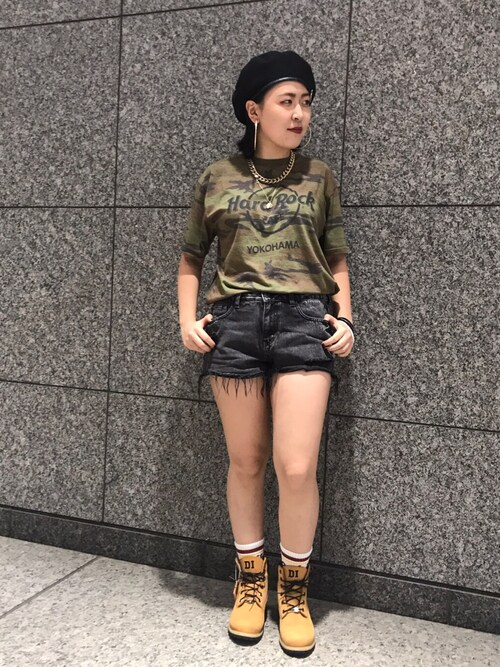 Hard Rock Cafe JAPANさんの「Ground Camo T(Hard Rock Cafe)」を使ったコーディネート