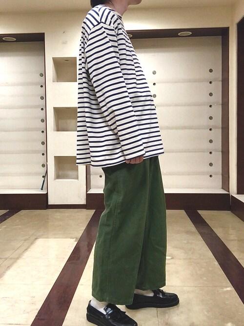 tobiさんの「バスクシャツ wide(le)」を使ったコーディネート