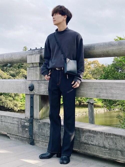 satoshiさんの「2021春夏 FLARE PANTS(Jieda)」を使ったコーディネート