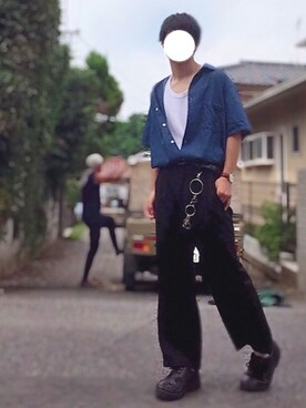 5c1c0c0804617 ドレスシューズを使った「白黒青」のコーディネート一覧 - WEAR