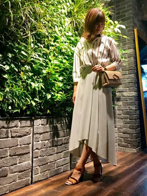 LOVELESS代官山NARUMIさんのスカート「フレアボリュームスカート(AVIE アビィ)」を使ったコーディネート