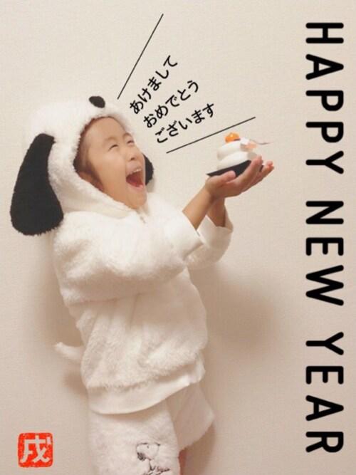 ☆のん☆さんのルームウェア/パジャマ「KIDS モコモコ スヌーピー 上下セット(aimerfeel|エメフィール)」を使ったコーディネート