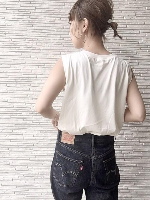 erinaさんの「WEGO/ワンショルビスチェセットTシャツ(WEGO)」を使ったコーディネート