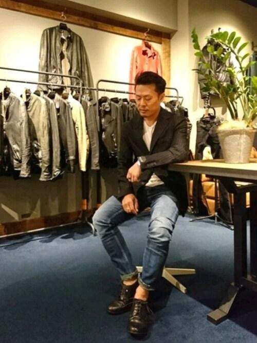 RAWLIFE GINZA SIXchu-さんのドレスシューズ「CHRISTIAN PEAU/クリスチャン ポー/derby shoes/ダービーシューズ(CHRISTIAN PEAU|クリスチャンポー)」を使ったコーディネート