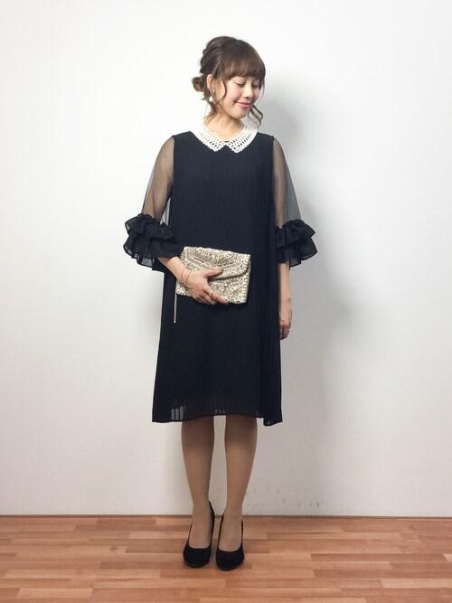 結婚式服装黒