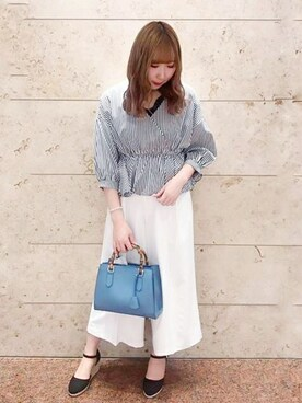 05482bd9843cc MEW S REFINED CLOTHES|MEWS REFINED CLOTHES OFFICIALさんの「バックル付きワイドパンツ(.  2019.4 17. MEW S REFINED CLOTHES(ミューズ リファインド クローズ) ...